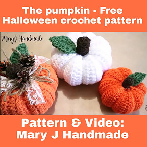 The pumpkin – Free Halloween crochet video tutorial