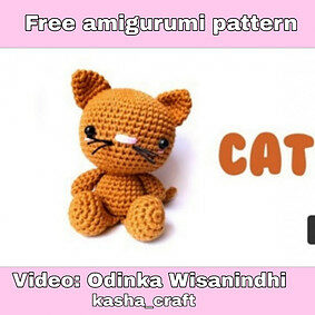 Free crochet cat pattern – the cutest video tutorial