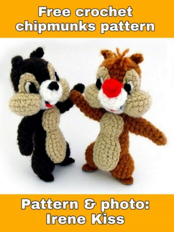 Free crochet chipmunk pattern –  free download pdf file