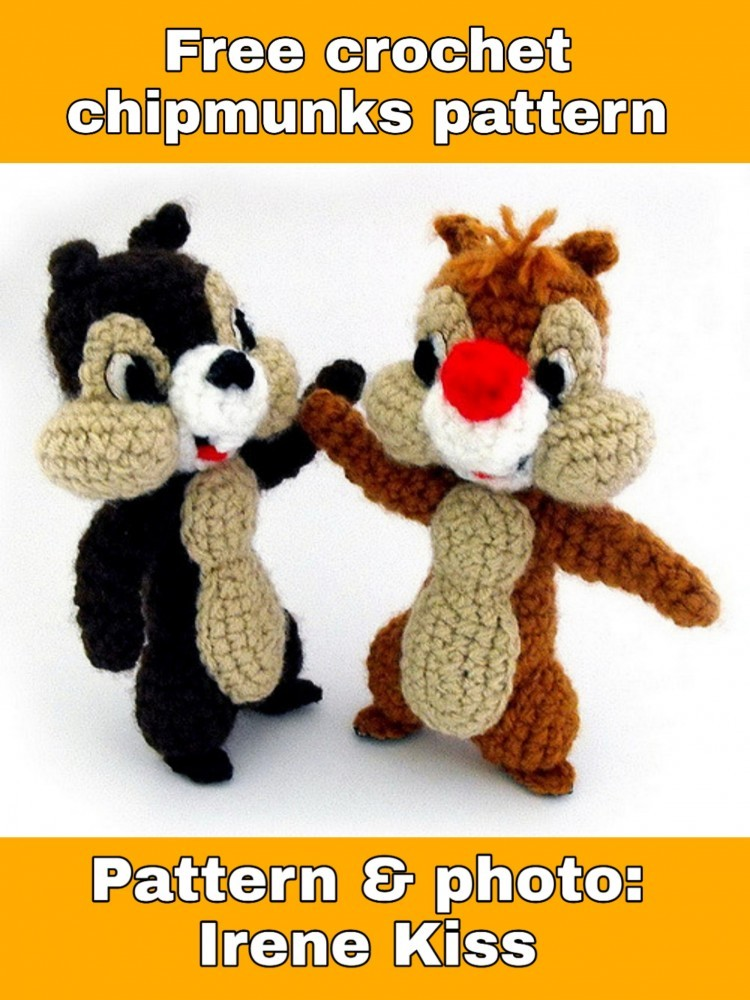 Free crochet chipmunk pattern