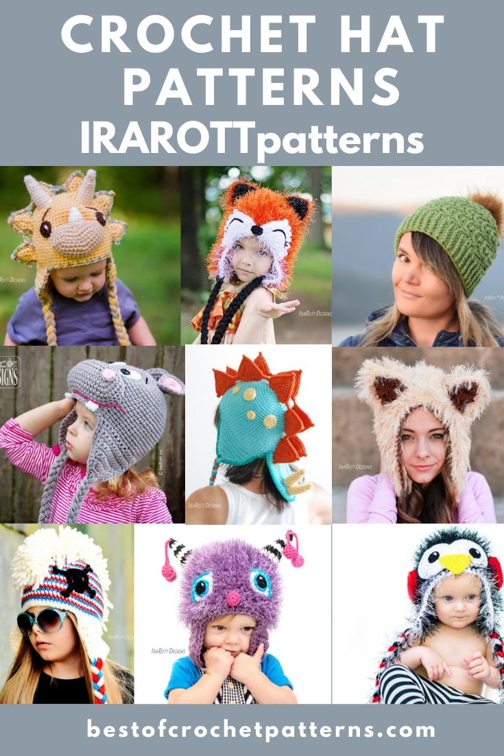 Crochet Hat Patterns - IRAROTTpatterns