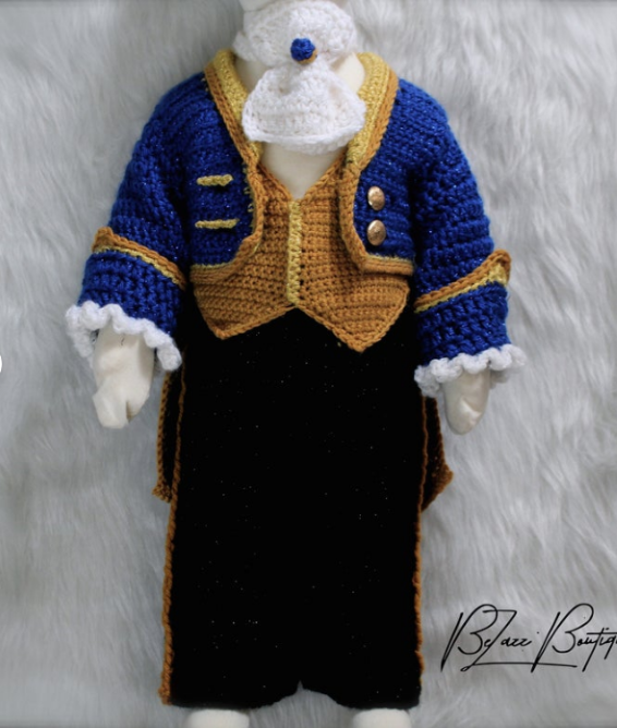 Baby Boy Halloween Crochet PAttern - Beauty and the Beast