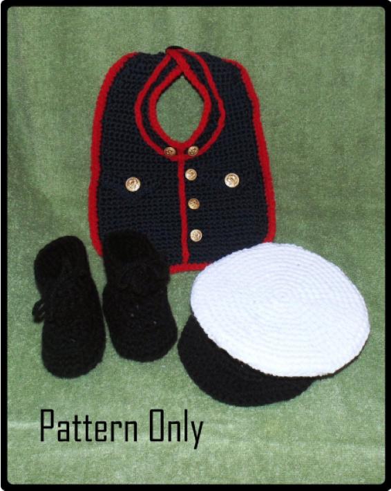 Baby Boy Halloween Crochet Pattern - The Marine