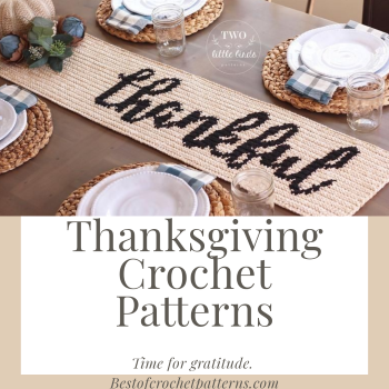 Thanksgiving crochet patterns – Time to be thankul.