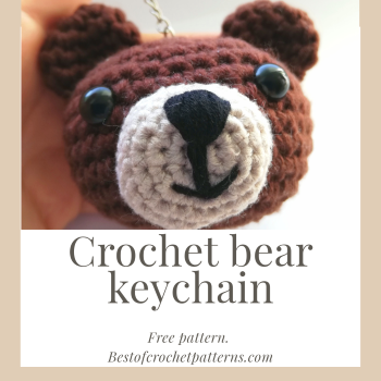 Crochet bear keychain – the cutest free pattern