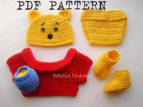 Baby Boy Halloween Crochet Pattern - Winnie The Pooh