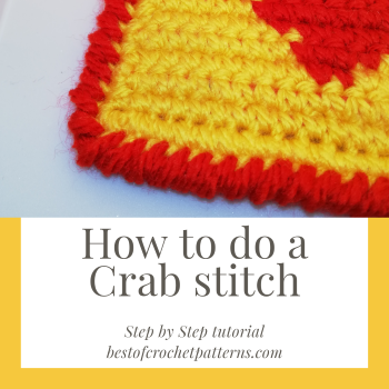 How to crochet Crab Stitch – Step by step tutorial