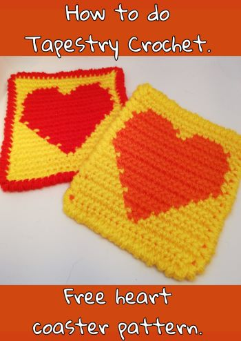 Free Tapestry Crochet Pattern - Heart Coaster