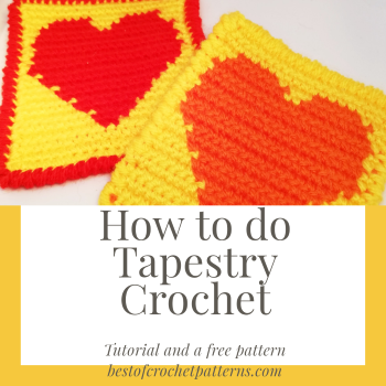 How to do Tapestry crochet  – Pictures and a Free Coaster Pattern