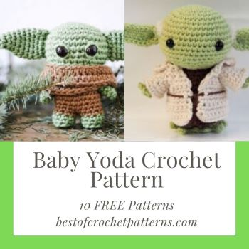 Baby Yoda Crochet Pattern –  10 FREE Patterns (PDF downloads)