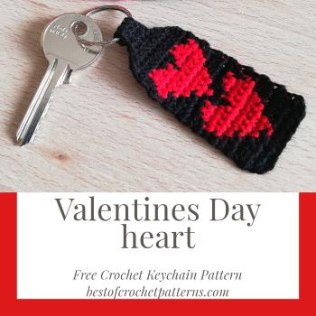 Valentines Day Heart - Free crochet Keychain Pattern