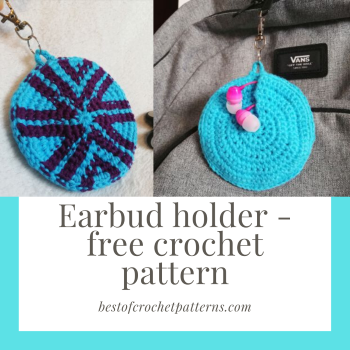 Earbud holder – Free crochet pattern