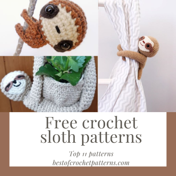 Free crochet sloth patterns - Top 11