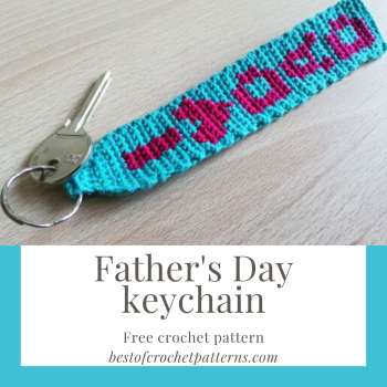 Father's day keychain – Free crochet pattern