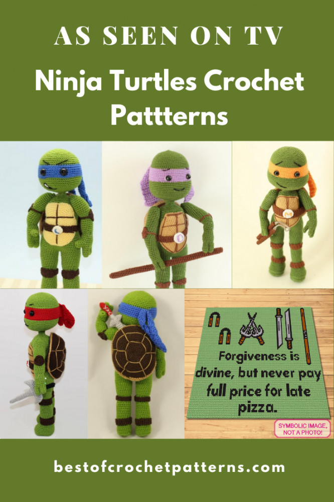 As seen on TV - Ninja Turtles Amigurumi Crochet Patterns