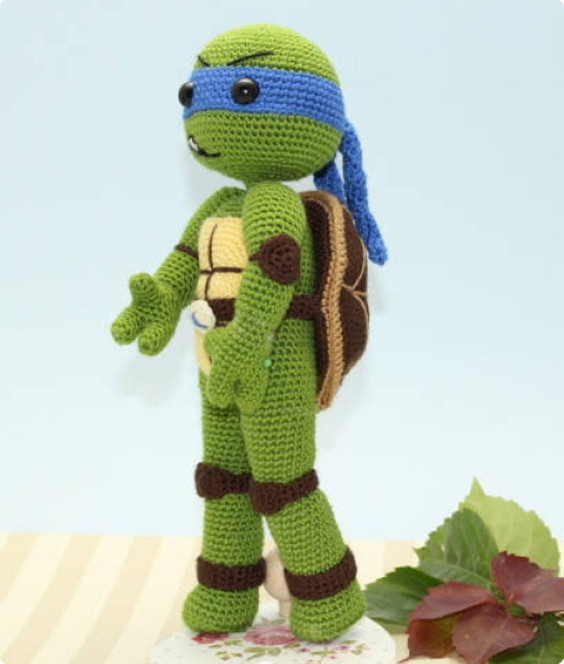 NInja Turtle Leonardo Crochet Pattern