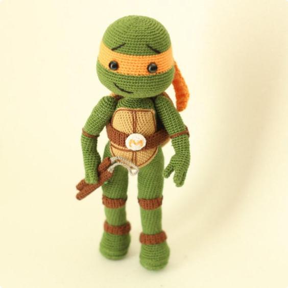 Ninja Turtle Michelangelo Crochet Pattern