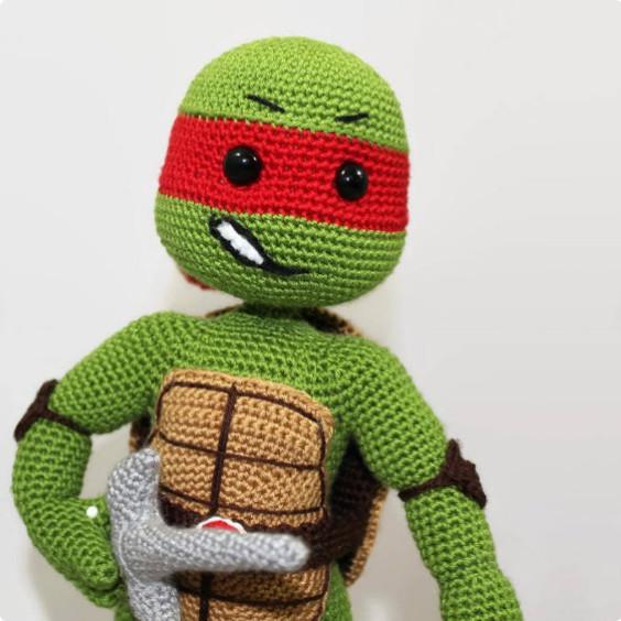 Ninja Turtle Raphael Crochet Pattern