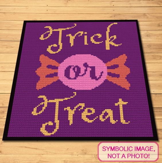 Halloween Crochet Blanket and Pillow Pattern - Trick or Treat Halloween Crochet Decor