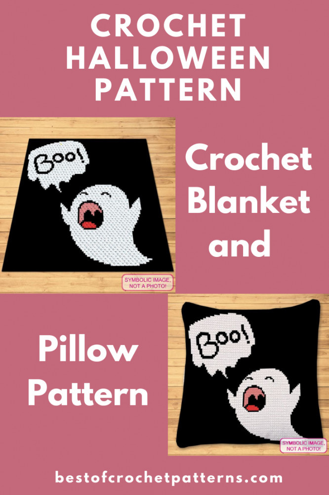 Halloween Crochet Ghost - Crochet Blanket and Pillow Pattern
