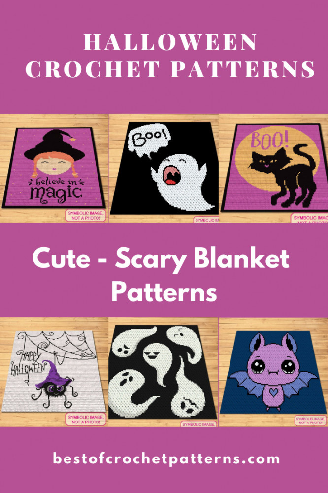 Halloween Crochet Patterns - Cute and Scary Crochet Blanket Patterns