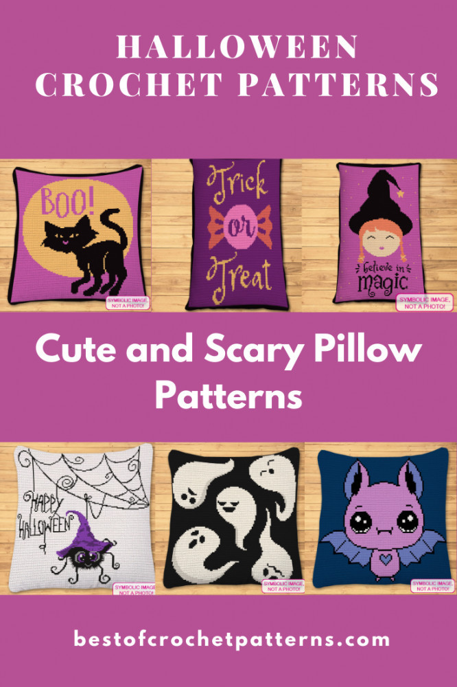 Halloween Crochet Patterns - Cute and Scary Pillow Patterns