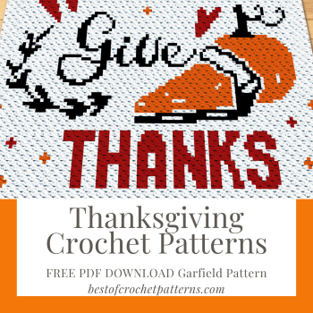 Thanksgiving crochet patterns – Free Garfield Blanket Pattern