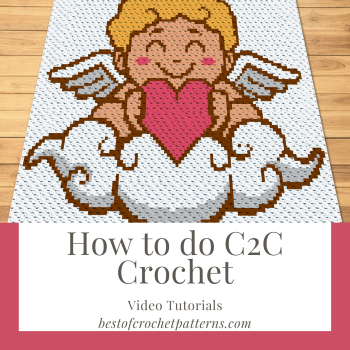 How to do Corner to corner (C2C) crochet - FREE crochet video tutorials