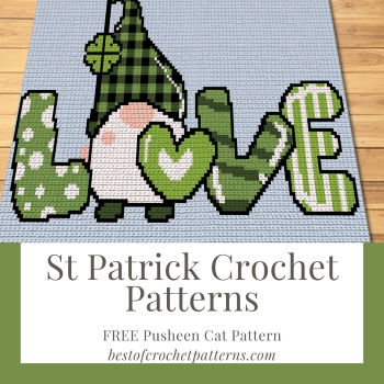 St Patrick Crochet Patterns - Free Pusheen Cat Pattern