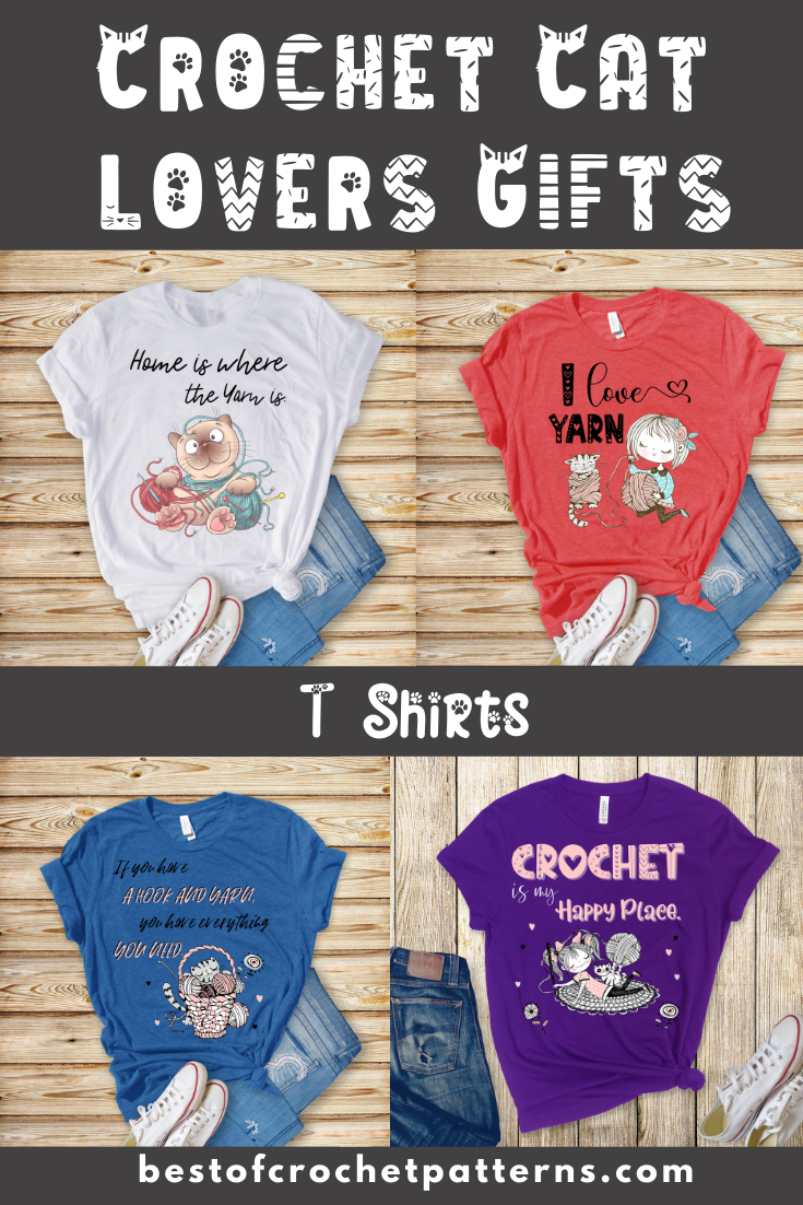 Crochet Cat Lovers Shirts