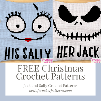 Free Christmas Crochet Pillow Patterns – Jack and Sally Pillow