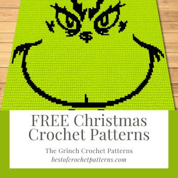 FREE Christmas Crochet Patterns - The Grinch Pattern